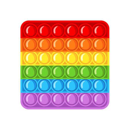 Trendy antistress sensory toy fidget in flat style isolated on white background. Vektoros illusztráció
