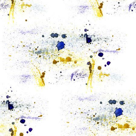 music pattern: Watercolor splash music pattern on white background Stock Photo