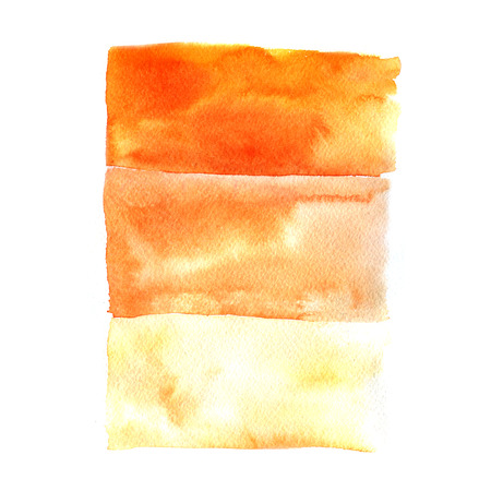 orange water: Watercolor orange water gradient on white background