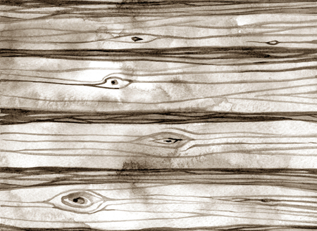wooden texture: Watercolor rustic texture of the wood background