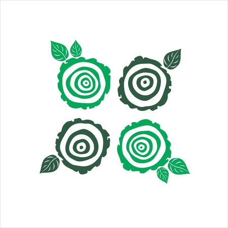annual ring annual ring: vector growth rings tree trunk symbols. slice of tree trunk