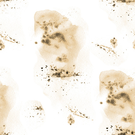 patch of light: retro watercolor ink splash on a white background seamless pattern.