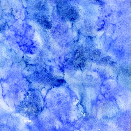 Watercolor blue white strokes hand drawn paper texture card for greeting, invitation, wallpaper, banner, template, design, web. Abstract water color brush paint line background. Aquarelle illustration