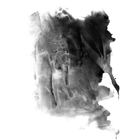 grunge banner: Black watercolor ink banner with grunge texture retro effect