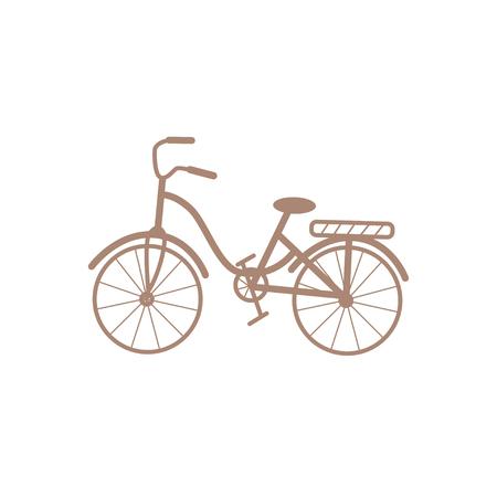 Retro bicycle isolated on white background. Flat vector illustration of colorful bike 일러스트