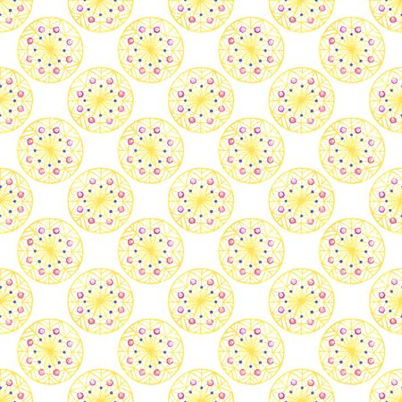 Watercolor abstract boho yellow pattern, doodle.Perfect for greeting cards, wedding invitations, packaging design and decorations.