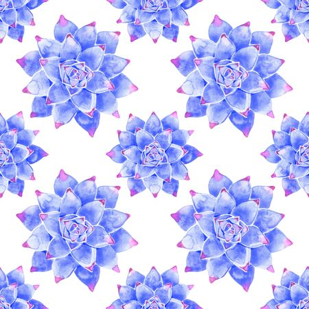 Watercolor seamless pattern in blue color. It can be background, pattern for textile e.g. for pajamas or bed linens, etc