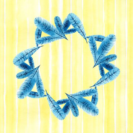 Wreath of twigs beautiful watercolor. Illustration on a white background