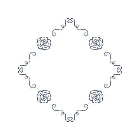 Vintage Frame. Floral elements for design monograms, invitations, frames, menus and labels. Graphic design of the website, cafes, boutiques, hotels, wedding invitations Ilustração