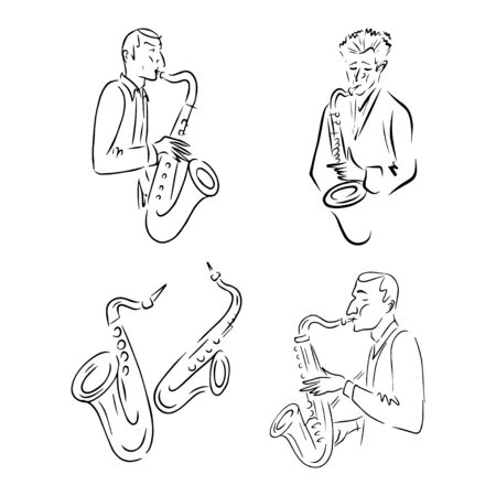Jazz line icon concept. Jazz vector linear illustration, symbol, sign
