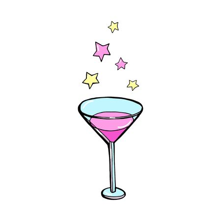 Hand drawn illustration of cocktail. MARTINI. Vector collection.