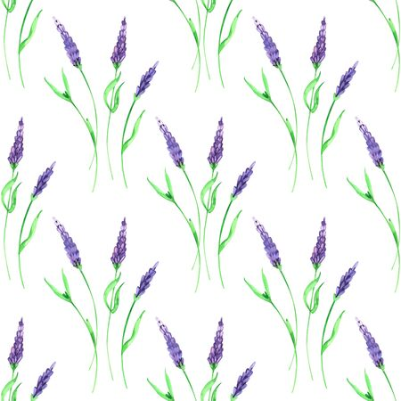 Watercolor hand painted provence village seamless pattern.