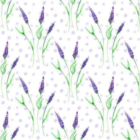 Watercolor hand painted provence village seamless pattern. 写真素材 - 133269692