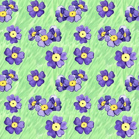 Seamless summer floral pattern. Hand painted watercolor background. Reklamní fotografie