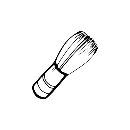 Bamboo whisk, tea ceremony symbol cartoon vector Illustration.