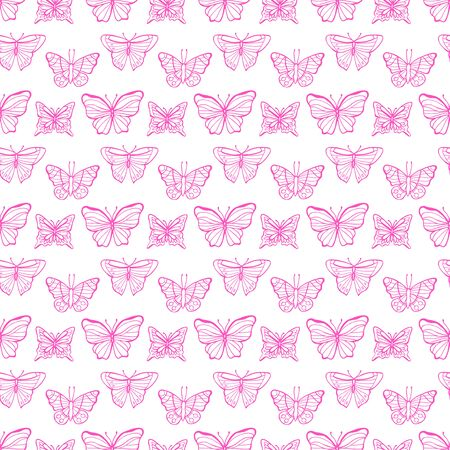 Neon butterflies seamless pattern. Perfect for greetings, invitations, manufacture wrapping paper, textile, web design.