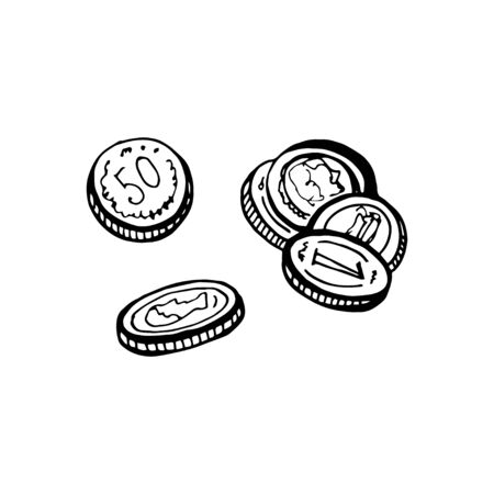 Cartoon vector and illustration, black and white, hand drawn style, black and white image, isolated on white background Stockfoto