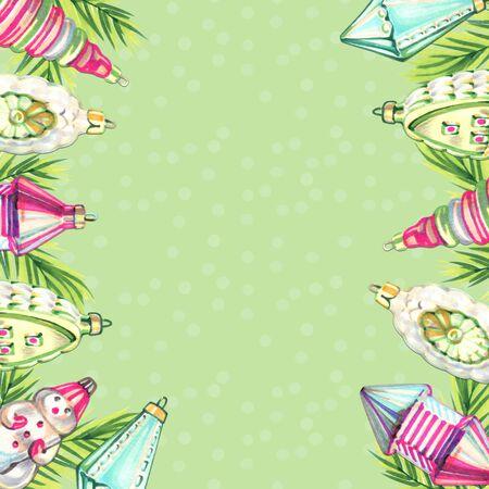 Christmas illustration with christmas toys. Banco de Imagens - 140705250