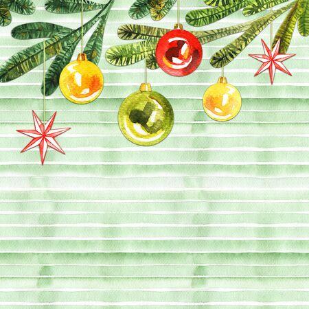 Watercolor Christmas wreath.