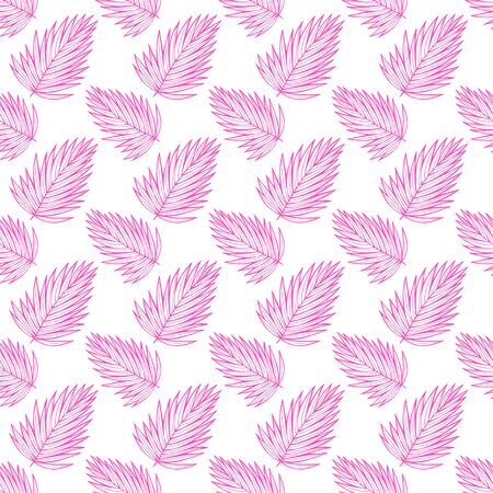 Tropical neon leaves pattern.  イラスト・ベクター素材