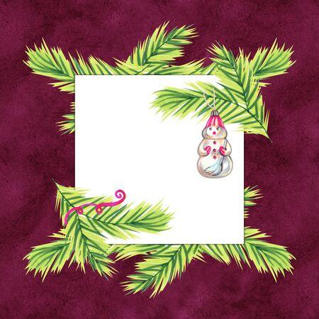 Christmas decoration for shop. Markers sketch illustration.
