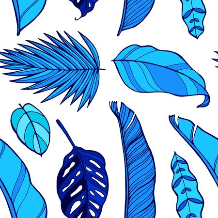Seamless pattern with leaves of monstera plant. Watercolor illustration. Perfect for greetings, invitations, manufacture wrapping paper, textile, web design.