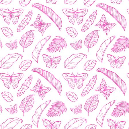 Neon butterflies seamless pattern. Perfect for greetings, invitations, manufacture wrapping paper, textile, web design. 写真素材 - 134806387