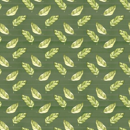 Spring tender green leaves, watercolor, pattern, abstract, wallpaper. 写真素材