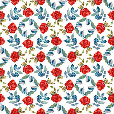 Watercolor Elegance seamless floral pattern.