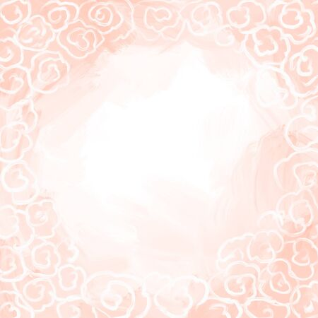 Pink roses with white blur in the middle