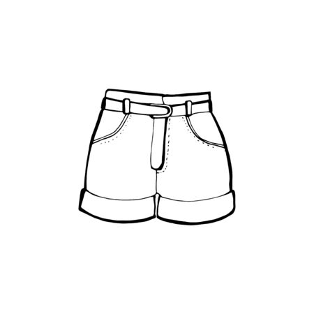 Shorts concept line icon. Simple element illustration. Concept outline symbol design.