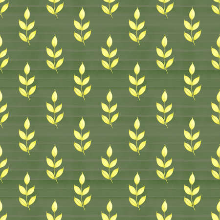 Watercolor hand drawn seamless pattern with spring tender leaves