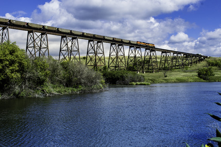 This Bridge runs over the valley in Valley City North Dakota