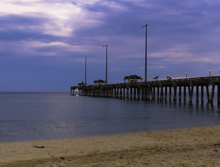 fishing pier at nags head in the outer banks of North Carolina Stock Photo