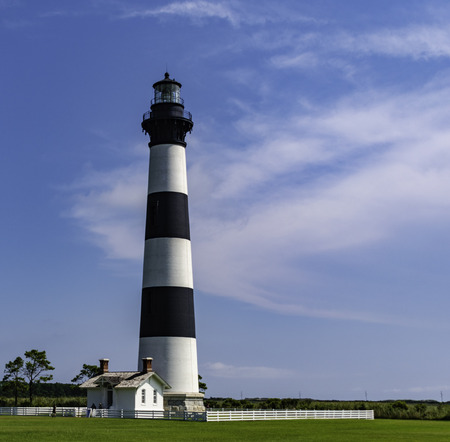 The lighthouse can be found just south of Nags Head NC in the Outer Banks