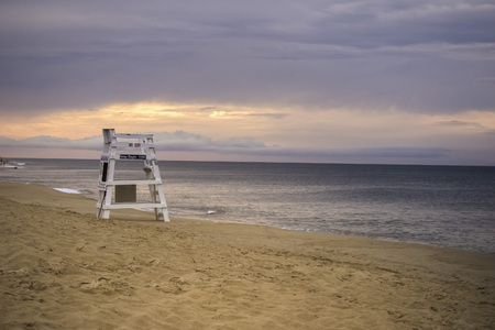 Off season on the beach in Nags Head at the Outer Banks, NC