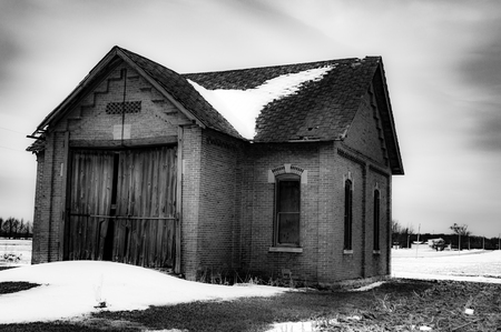 An old, abandon barn out somewhere in the middle of USA Stockfoto