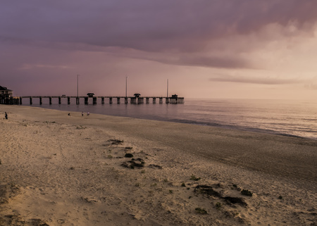 fishing pier at nags head in the outer banks of North Carolina Stockfoto