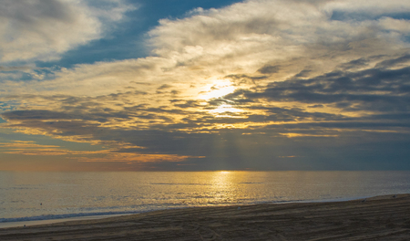 Capture of the sunrise On the beach in Nags Head, North Carolina in the Outer Banks