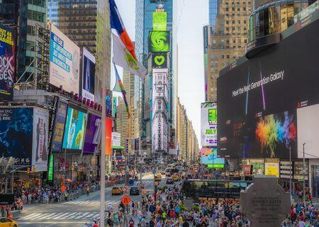 Es gibt so viel in NYC zu sehen und zu tun. Ich liebe es, herumzulaufen und mich einfach nur umzusehen. Tag und Nacht ist es eine erstaunliche Stadt. Standard-Bild