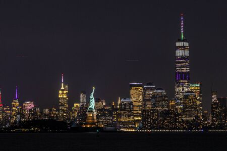 New York City has the most amazing night sky lines. To see the light of NYC at night is an awesome experience