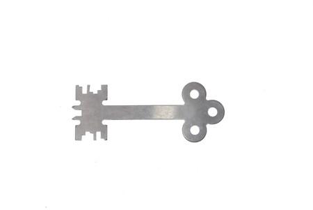 unic steel modern key on white background 4 photo
