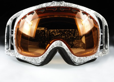 Intresting snowboard mask isolated 3 photo