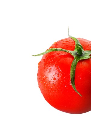 pedicel: Fresh res tomato isolated 4