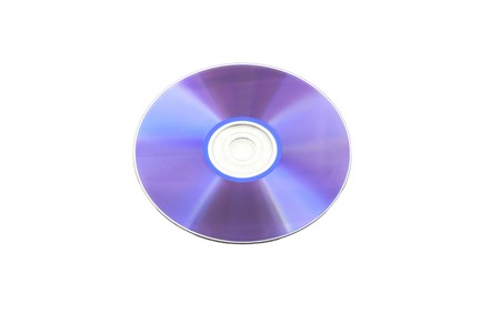 dvdr: purple isolated dvd-r disk Stock Photo