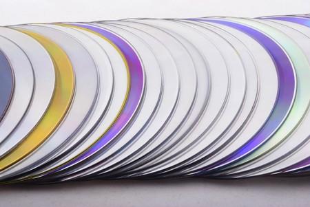 dvds: Close up of dvd disks stack