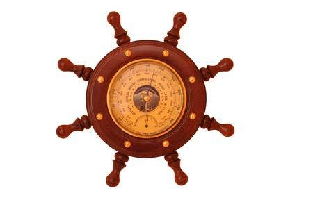 pluviometro: barómetro aisladas Foto de archivo