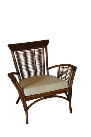 Wicker chair isolated  photo