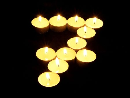 7 made of candles photo