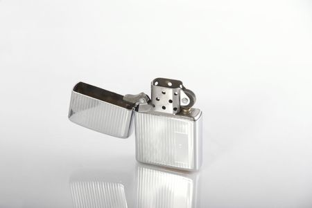 metal lighter isolated 2 photo